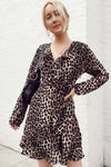 Leopard High Neck Mini Dress
