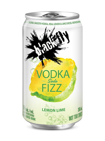 Black Fly Lemon Lime Vodka Fizz 6x355ml