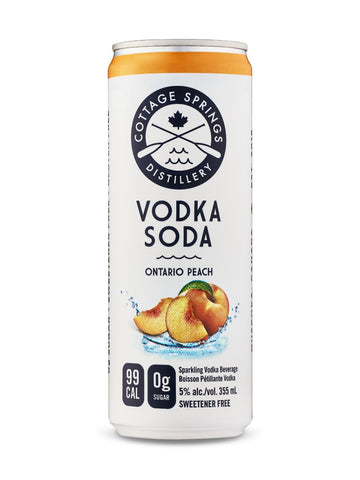 Cottage Spring Ontario Peach Vodka Soda 355ml