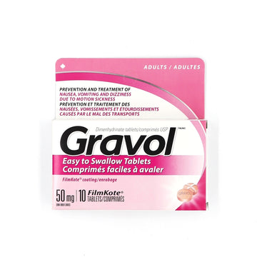 Gravol 50mg 10 Tablets