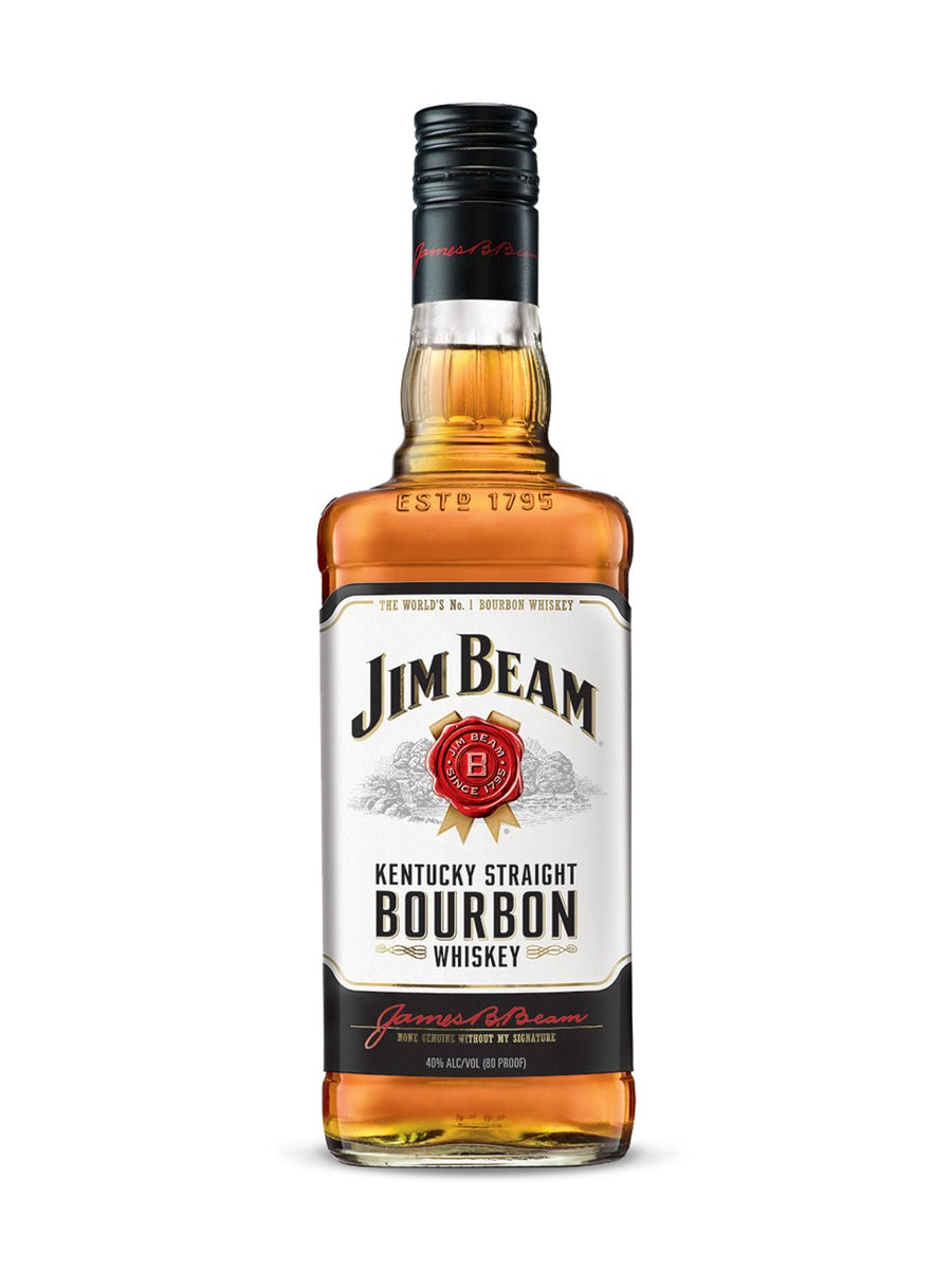 Jim Beam White Label Bourbon 750ml