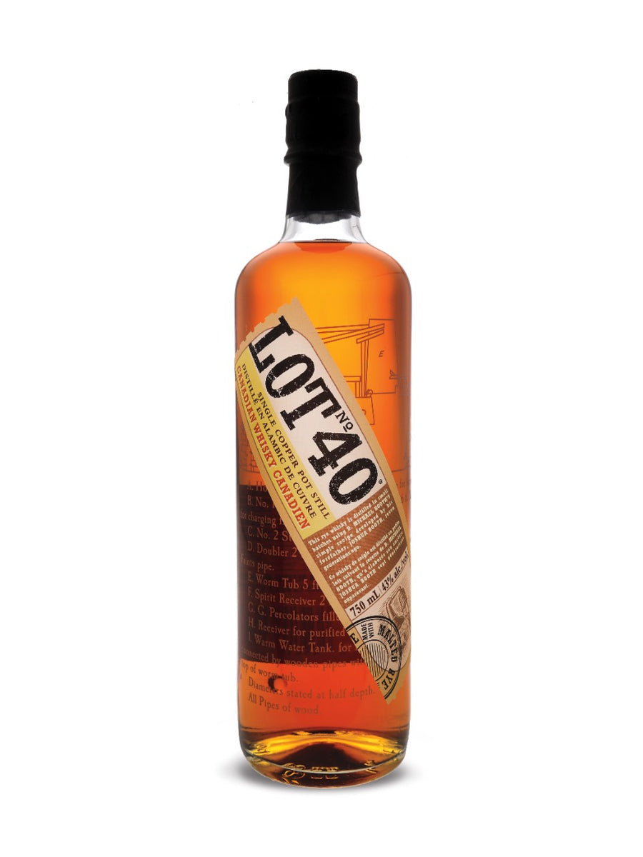Lot No. 40 Single Copper Pot Still Canadian Whisky 750ml