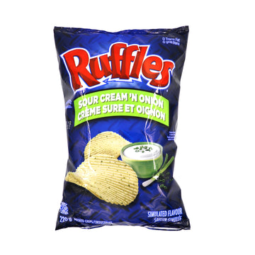 Ruffles Sour Cream 'N Onion 220g