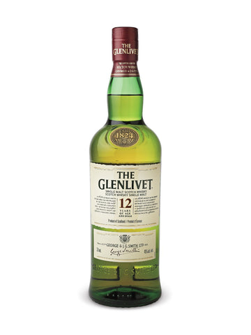 The Glenlivet 12 Year Old Single Malt Scotch Whisky 750ml