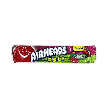 Airheads Big Bar 2-in-1 Strawberry & Watermelon 42.5g