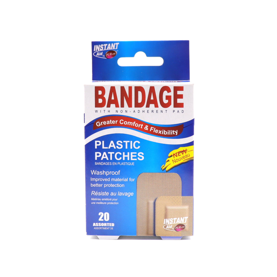 Bandage Plastic Patch 20 pcs assorted