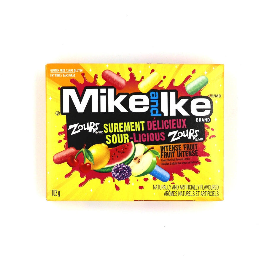 Mike and Ike Sour-Licious Intense Fruit 102g