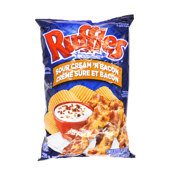 Ruffles Sour Cream 'N Bacon 220g