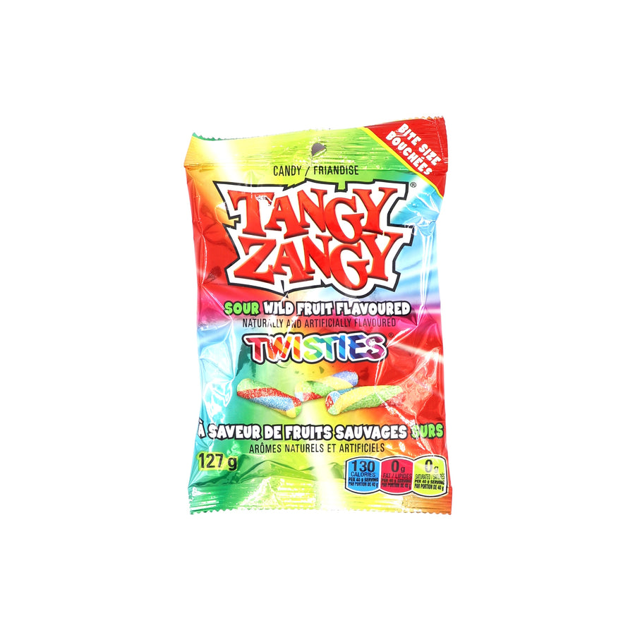 Tangy Zangy Twisties Sour Wild Fruit 127g