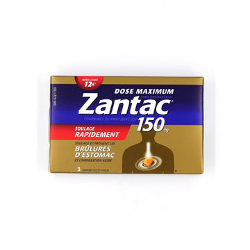 Zantac Maximum Strength 150mg 3 tablets