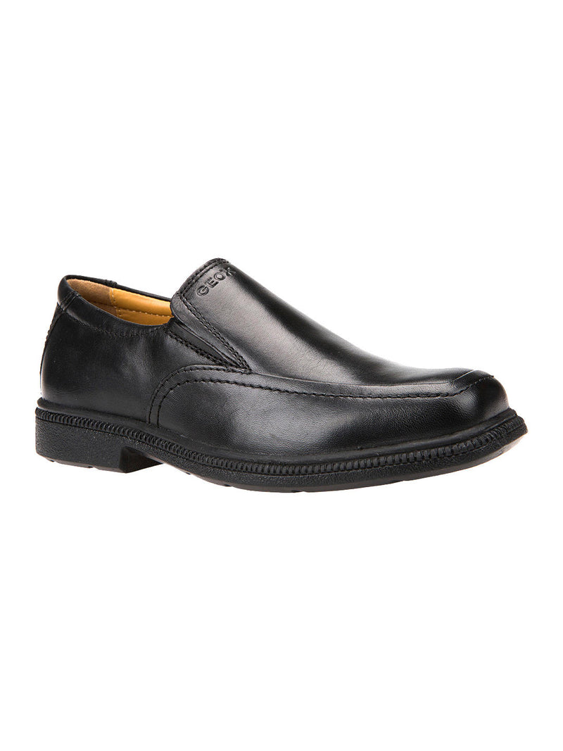 Geox Federico Black Slip On Shoe
