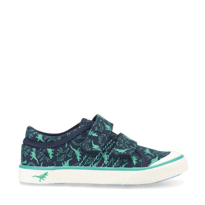 Start-Rite Jurrasic Navy Dino Canvas