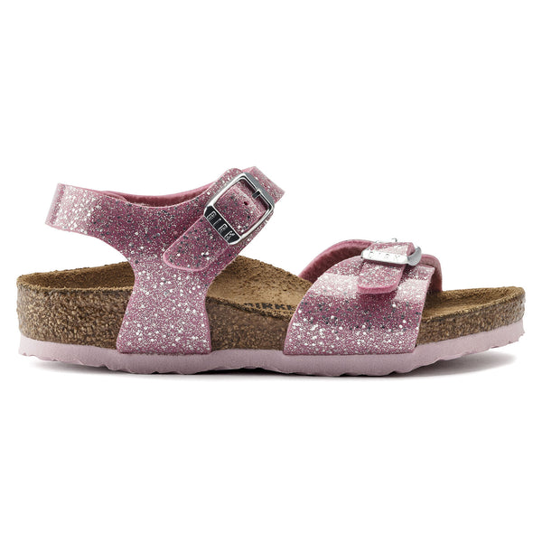 Birkenstock Rio Plain Cosmic Sparkle Candy Pink