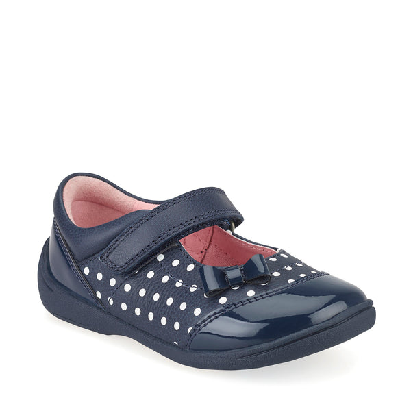 Start-Rite Twizzle Navy Polka