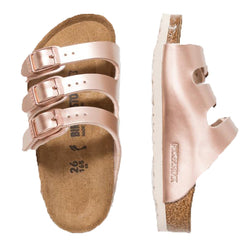 BIRKENSTOCK FLORIDA ELECTRIC METALLIC COPPER