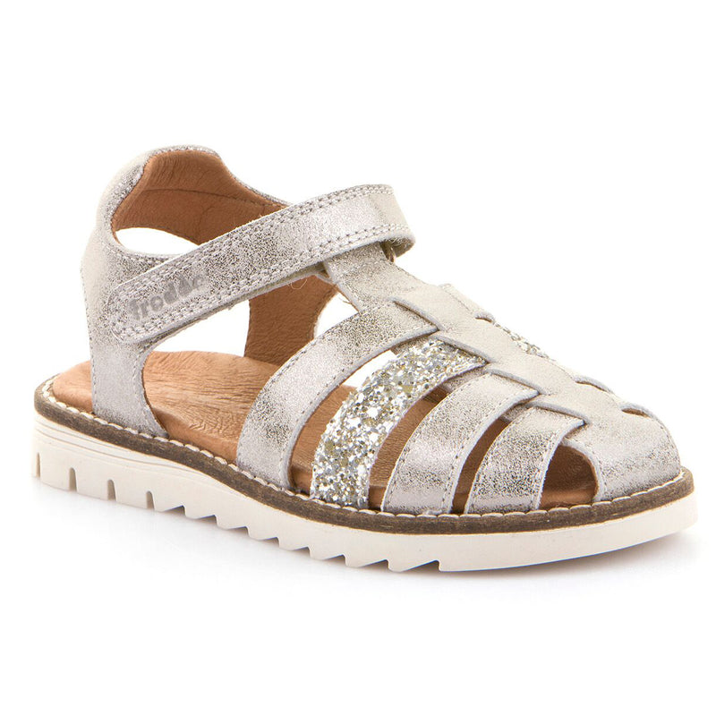 FRODDO CLOSED TOE SILVER SANDAL G3150135