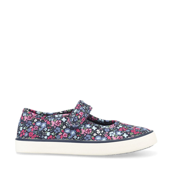 Start-Rite Blossom Navy Floral Canvas