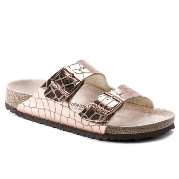 Birkenstock Arizona Gator Gleam Copper
