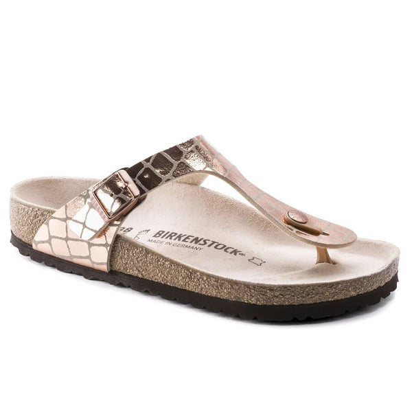 Birkenstock Gizeh Gator Gleam Copper