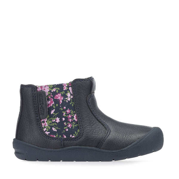Startrite First Chelsea Navy Floral G Fitting