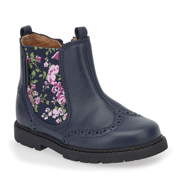 Startrite Chelsea Navy Leather/Floral