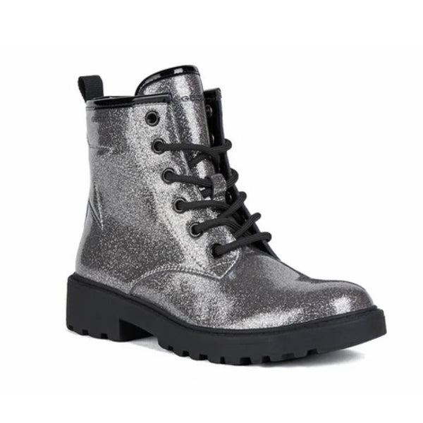 Geox Casey Silver Glitter Star Boot