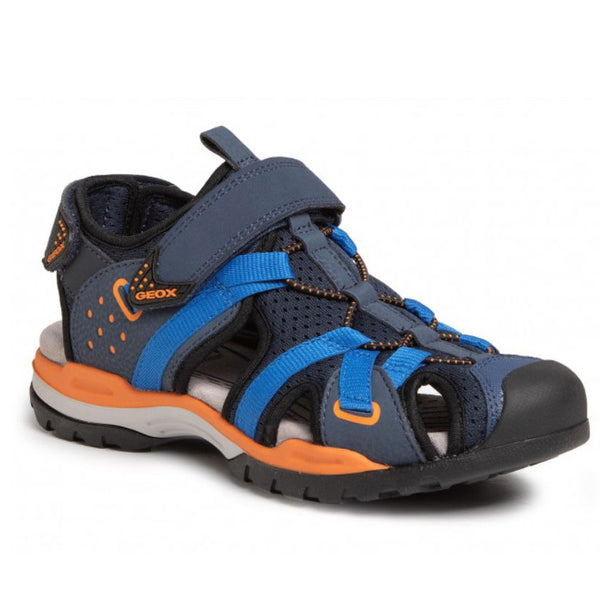 Geox Borealis Navy & Orange Closed Sandal