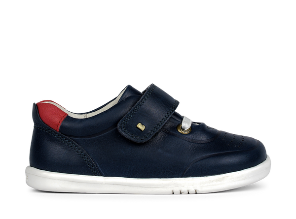 Bobux Ryder Navy & Red Trainer