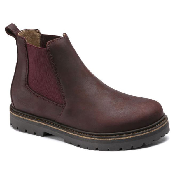 Birkenstock Stalon Burgundy Leather Chelsea Boot