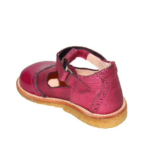 ANGULUS PINK PATENT AND LEATHER SHOE 3306
