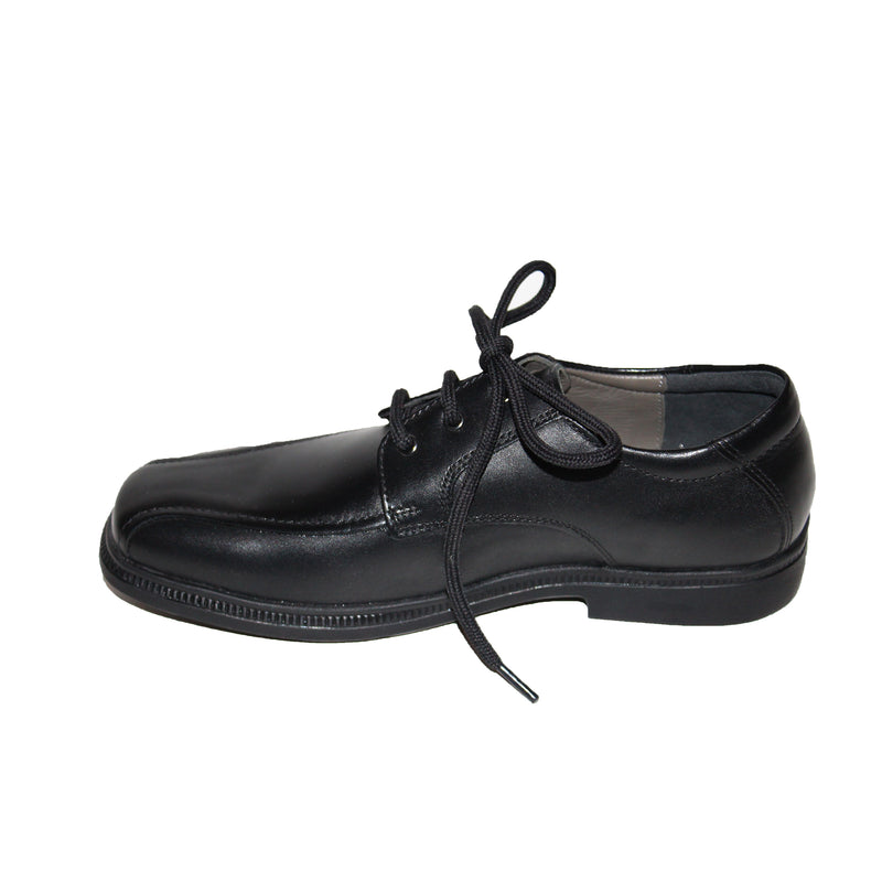 Geox Federico Black Lace Up Shoe (Stitch Detail)