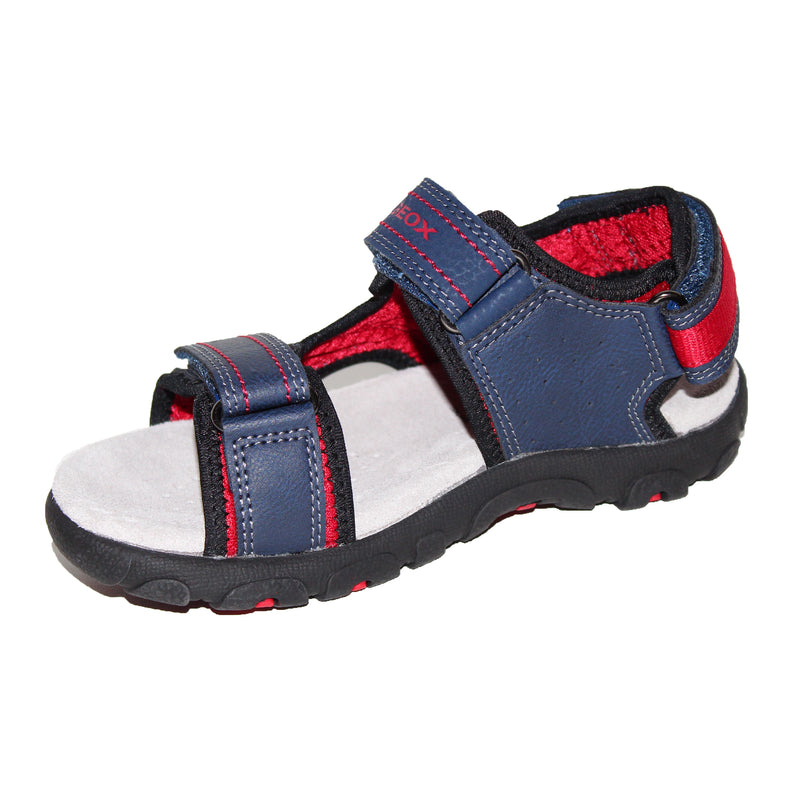 Geox Strada Navy & Red Sandal