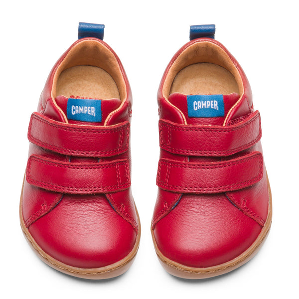 Camper Peu Red Velcro Shoe