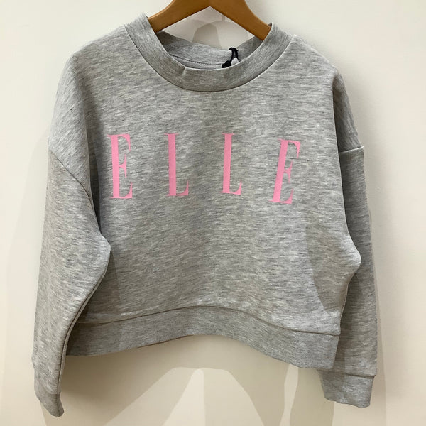 Elle Boxy Fit Crop Sweatshirt
