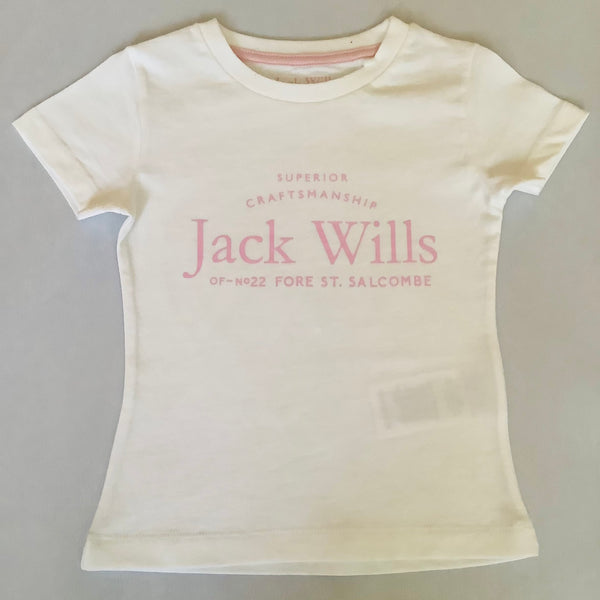 Jack Wills Girls White T Shirt