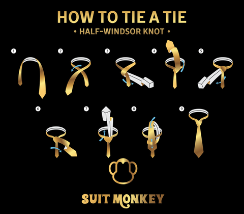 How To Tie a Half Windsor Knot