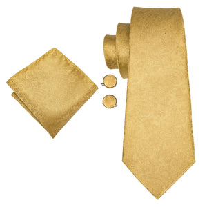 Men's Ties & Handkerchiefs Gold Mandala Men's Necktie Set - Suit Monkey UK