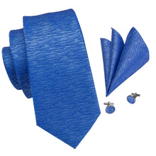 Load image into Gallery viewer, Men's Ties & Handkerchiefs Blue Men's Necktie Set - Suit Monkey UK