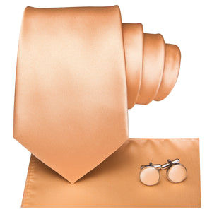 Men's Ties & Handkerchiefs Light Orange Men's Necktie Set - Suit Monkey UK
