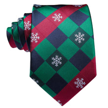 Load image into Gallery viewer, Men's Ties & Handkerchiefs Christmas Snowflake Men's Necktie Set - Suit Monkey UK