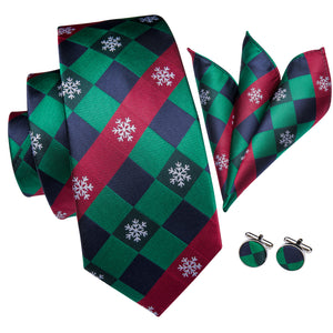 Men's Ties & Handkerchiefs Christmas Snowflake Men's Necktie Set - Suit Monkey UK