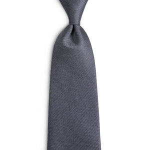Men's Ties & Handkerchiefs Solid Grey Men's Necktie Set - Suit Monkey UK