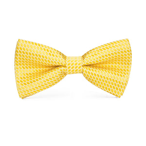 Men's Ties & Handkerchiefs Yellow Squares Men's Bow Tie Set - Suit Monkey UK