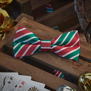 Men's Ties & Handkerchiefs Candy Cane Men's Bow Tie Set - Suit Monkey UK