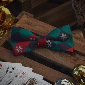 Men's Ties & Handkerchiefs Christmas Snowflake Men's Bow Tie Set - Suit Monkey UK