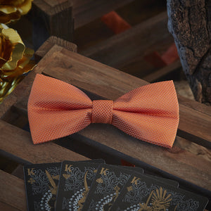 Men's Ties & Handkerchiefs Orange Men's Bow Tie Set - Suit Monkey UK