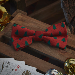 Men's Ties & Handkerchiefs Large Christmas Tree Men's Bow Tie Set - Suit Monkey UK