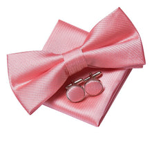 Load image into Gallery viewer, Men's Ties & Handkerchiefs Simple Pink Men's Bow Tie Set - Suit Monkey UK