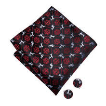 Load image into Gallery viewer, Men's Ties & Handkerchiefs Black & Red Reindeer Men's Bow Tie Set - Suit Monkey UK