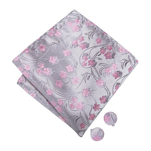 Men's Ties & Handkerchiefs Pink Blossoms Men's Bow Tie Set - Suit Monkey UK